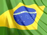 Glossy Flag of Brazil poster