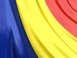 Glossy Flag of Romania poster