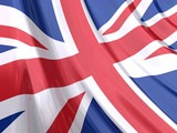 Glossy Flag of United Kingdom poster