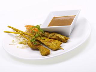 hühnchenfleisch satays mit curry