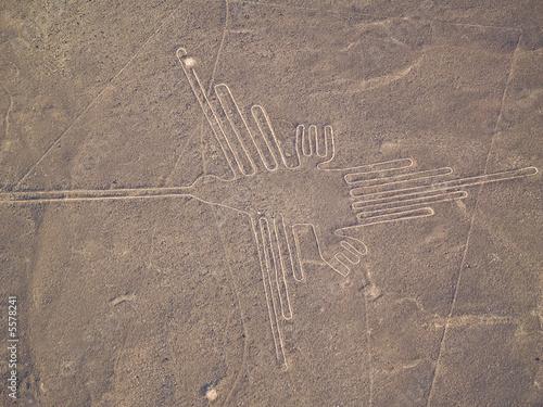 Linie Nazca peruwiańska pustynia