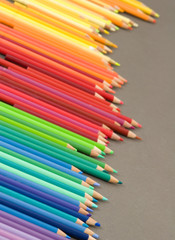 multicolored pencil crayons