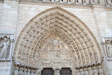 L'entrée de Notre Dame de Paris