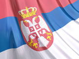 Glossy Flag of Serbia poster