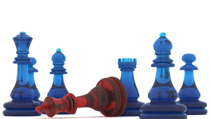 Chess pieces  , 3d render