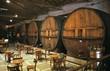A wine tasting room with huge barrels in Mendoza