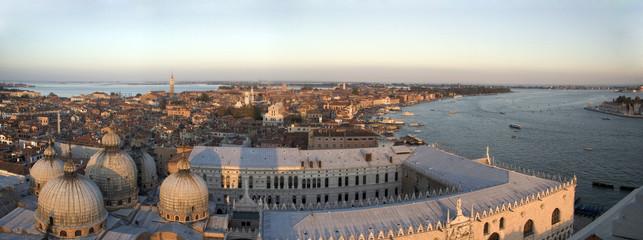 Vu aérienne de Venise