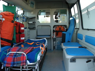 Ambulanza vista dall'interno