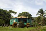 generic architecture native house corn island nicaragua poster