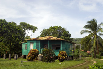 generic architecture native house corn island nicaragua