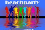 beachparty - disco poster