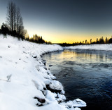 winter river scenery