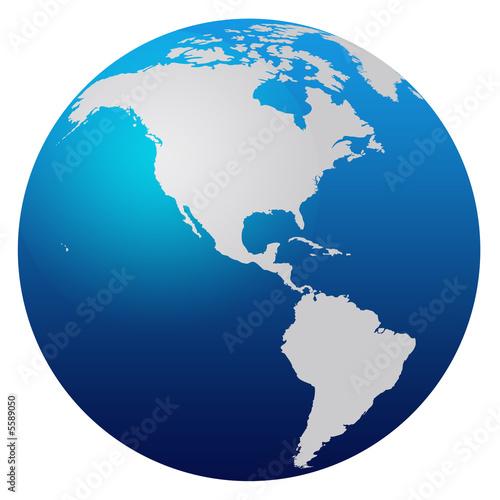 world map globe australia. Blue world map globe