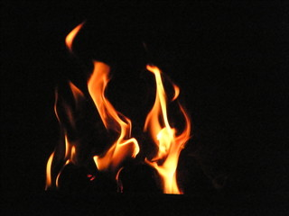 Fireside flames