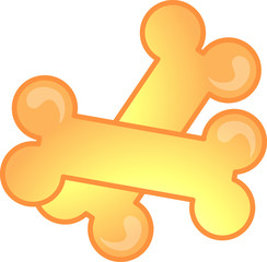 Illustration of a dog bones icon