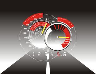 velocimetro y carretera