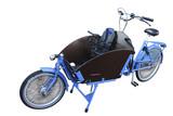 long-wheelbase child transport bicycle poster