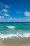 Beautiful view onto Atlantic ocean from Miami Beach poster