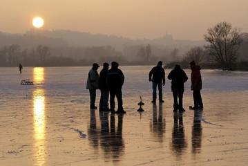 Abendstimmung auf dem Eis