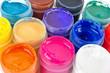 Multicolored gouache paints