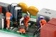 Leinwandbild Motiv chantier électronique 5