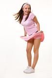 Wind blown skirt poster