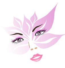 visage floral de femme