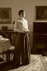 Retrophoto einer posierenden Frau