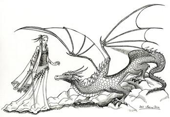 Elfe und Drache