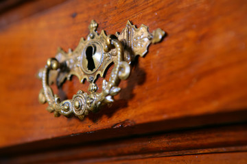 fragment to old-time furniture, Vintage, chest of drawers