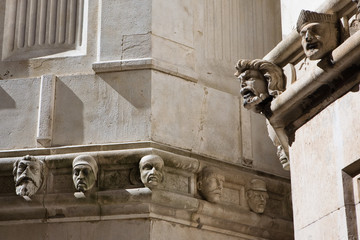Detail of the Cathedral of St James. - Sibenik, Croatia.