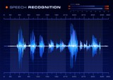 Speech Recognition, Blue Waveform poster