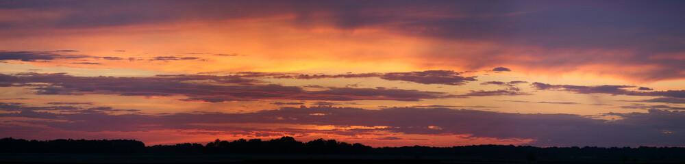 coucher soleil ciel nuage