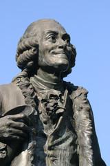 Statue de Voltaire à Ferney