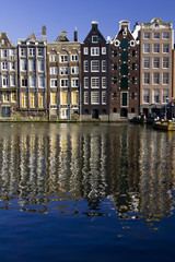 Buildings on the Damrak, Amsterdam