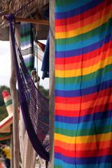negozio con amache colorate tipiche della siesta messicana