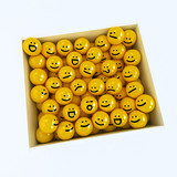 Winking smiley carried by sad and angry in box ones poster