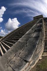 particolare della punta della Piramide Maya di Chichenitza