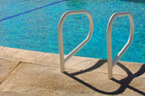 Background Image of a Common Pool Ladder by The pool poster
