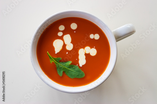A coup with tomato soup