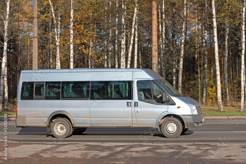white gray blank Shuttle Bus of my business vehicles series