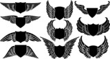 Shields with Wings, create your own logo poster