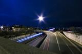 périphérique autoroute ville nuit light painting circulation poster