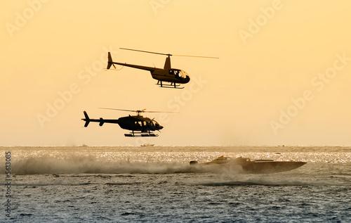 Fotobehang Water Motorsp. Offshore marine race