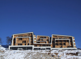 mountain modern building