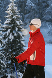 Nordic walking in winter 9 poster