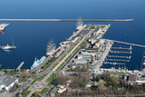 view on gdynia city port from the plane