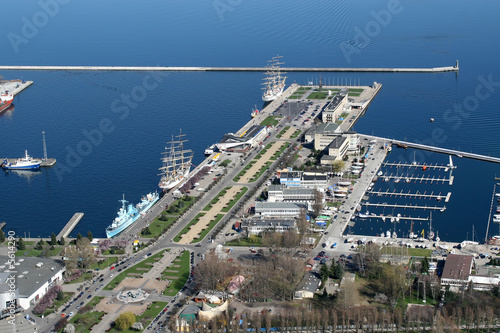 Fototapety, obrazy : view on gdynia city port from the plane