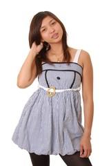 Lovely Asian Brunette Girl