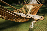 Empty hammock in garden